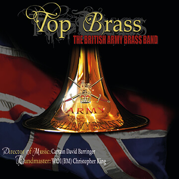 CD front cover 'Top Brass' British Army Brass Band
