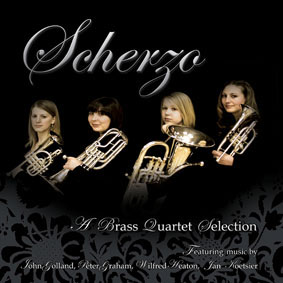 CD front cover 'Scherzo' - Scherzo Brass