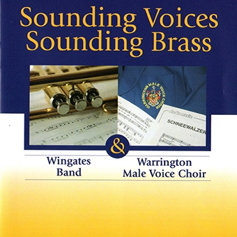 CD front cover 'Sounding Brass and Voices'