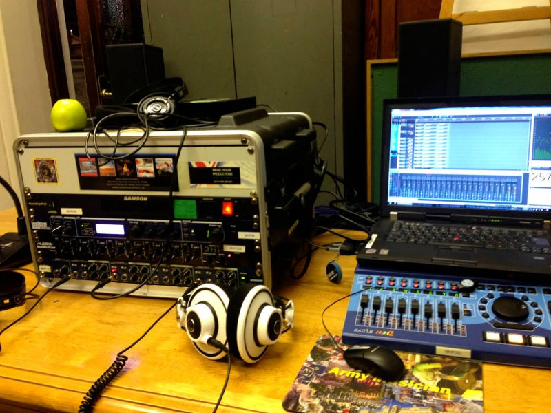 'Sadie recording set up
