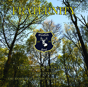 "alt=""alt text"" CD front cover 'Fraternity' Woodfalls Band brass band recording"